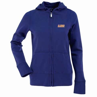 Illinois Womens Zip Front Hoody Sweatshirt (Alternate Color: Royal)