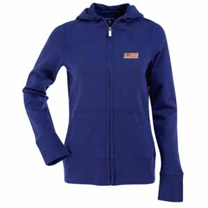 Illinois Womens Zip Front Hoody Sweatshirt (Alternate Color: Royal) - Medium