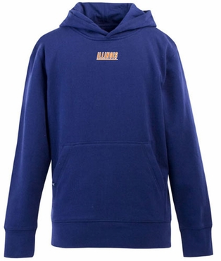 Illinois YOUTH Boys Signature Hooded Sweatshirt (Team Color: Royal)