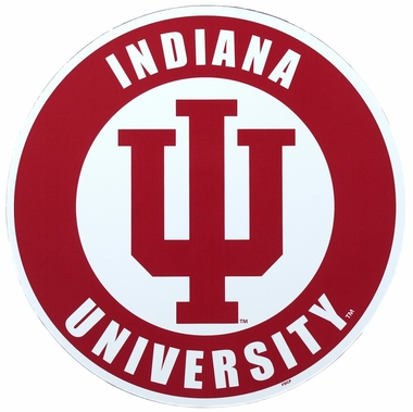 "Indiana 12"" 'IU' Car Magnet"