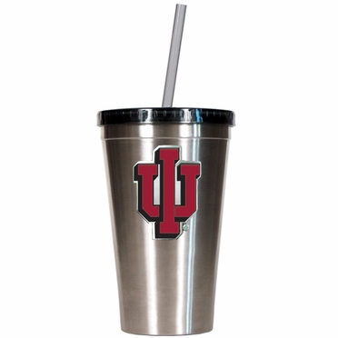 Indiana 16oz Stainless Steel Insulated Tumbler with Straw