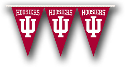 Indiana 25 Foot String of Party Pennants (P)