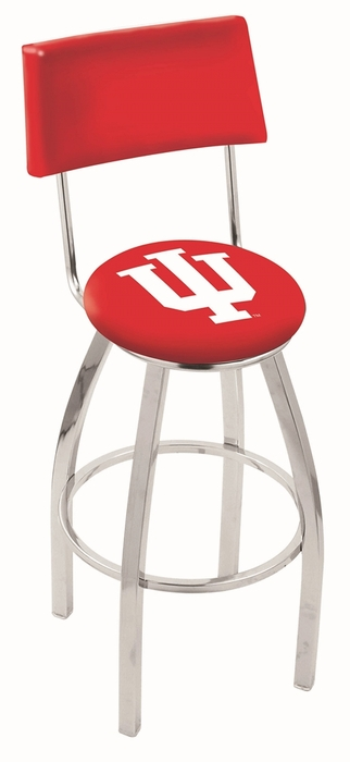 Indiana 25 Inch L8c4 Chrome Bar Stool With Back