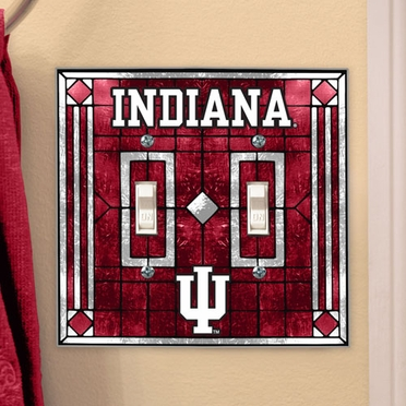 Indiana Art Glass Lightswitch Cover (Double)