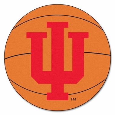 Indiana Basketball Shaped Rug