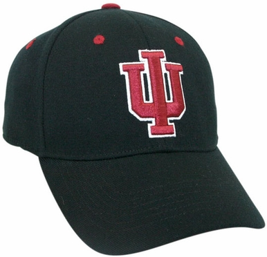 Indiana Black Premium FlexFit Baseball Hat