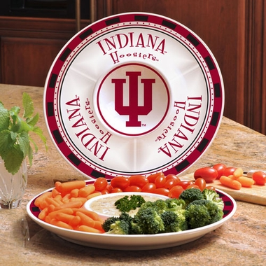 Indiana Ceramic Chip and Dip Plate