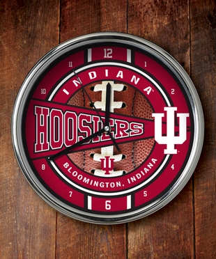 Indiana Chrome Clock