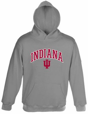Indiana Embroidered Hooded Sweatshirt (Grey)