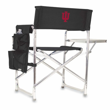 Indiana Embroidered Sports Chair (Black)