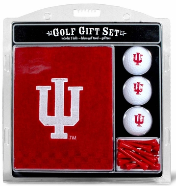 Indiana Embroidered Towel Golf Gift Set