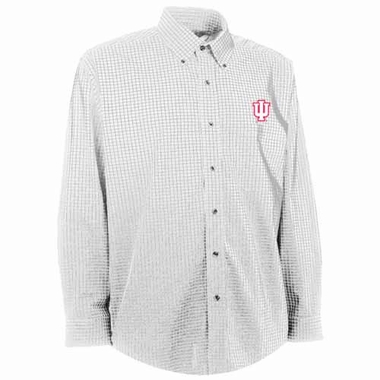 Indiana Mens Esteem Check Pattern Button Down Dress Shirt (Color: White)
