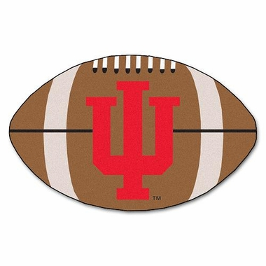 Indiana Football Shaped Rug