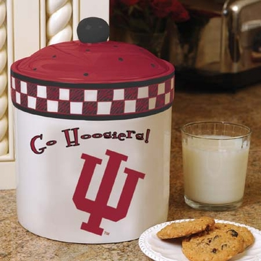 Indiana Gameday Ceramic Cookie Jar