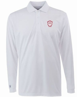 Indiana Mens Long Sleeve Polo Shirt (Color: White)