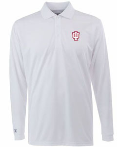 Indiana Mens Long Sleeve Polo Shirt (Color: White) - Large