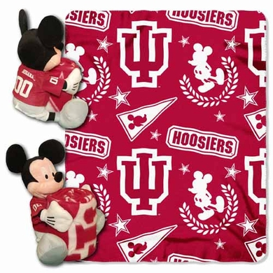 Indiana Mickey Mouse Pillow / Throw Combo