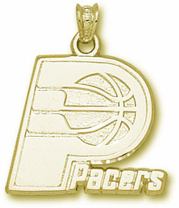 Indiana Pacers 10K Gold Pendant