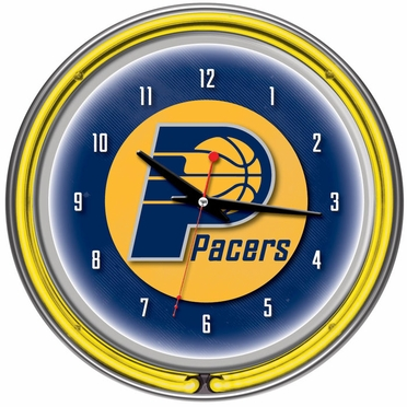 Indiana Pacers 14 Inch Neon Clock