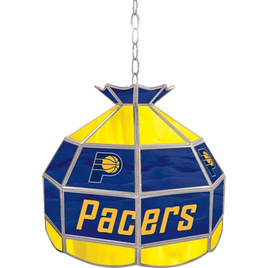 Indiana Pacers 16 Inch Diameter Stained Glass Pub Light