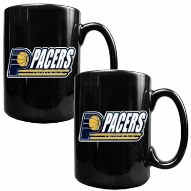 Indiana Pacers 2 Piece Coffee Mug Set (Wordmark)