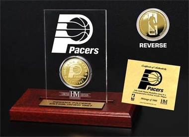 Indiana Pacers Indiana Pacers 24KT Gold Coin Etched Acrylic