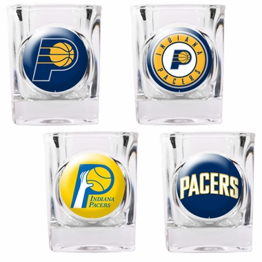 Indiana Pacers 4 Piece Assorted Shot Glass Set