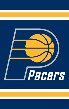 Indiana Pacers Applique Banner Flag