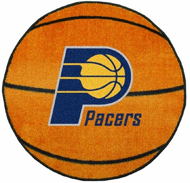 Indiana Pacers Basketball Shaped Rug