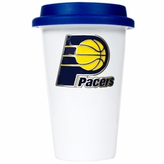 Indiana Pacers Ceramic Travel Cup (Team Color Lid)