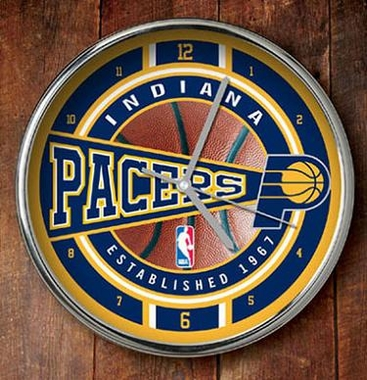 Indiana Pacers Chrome Clock