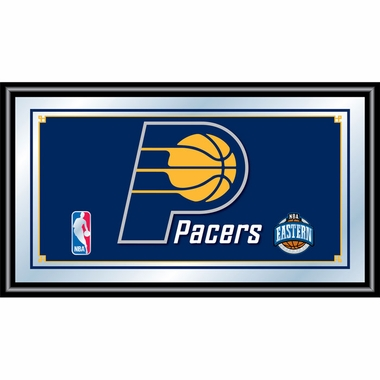 Indiana Pacers Framed Logo Bar Mirror