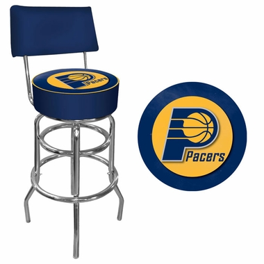 Indiana Pacers Padded Bar Stool with Back