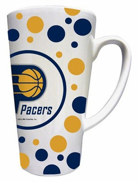 Indiana Pacers Polkadot 16 oz. Ceramic Latte Mug