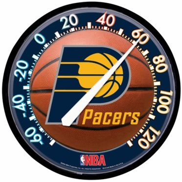 Indiana Pacers Round Wall Thermometer