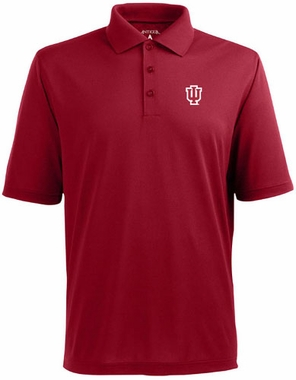 Indiana Mens Pique Xtra Lite Polo Shirt (Team Color: Red)
