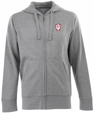 Indiana Mens Signature Full Zip Hooded Sweatshirt (Color: Gray)