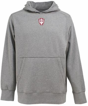 Indiana Mens Signature Hooded Sweatshirt (Color: Gray)