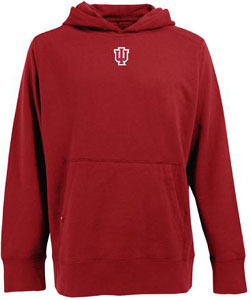 Indiana Mens Signature Hooded Sweatshirt (Team Color: Red) - Small