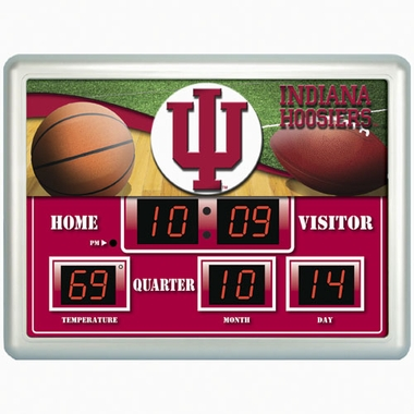 Indiana Time / Date / Temp. Scoreboard