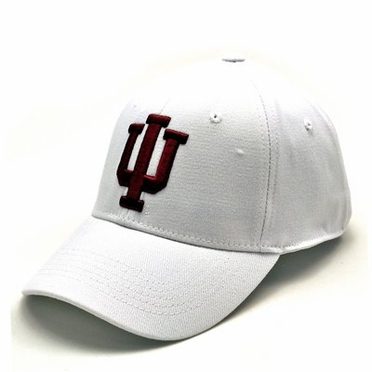 Indiana White Premium FlexFit Baseball Hat