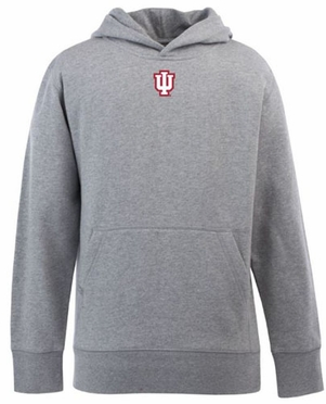 Indiana YOUTH Boys Signature Hooded Sweatshirt (Color: Gray)