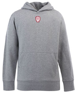 Indiana YOUTH Boys Signature Hooded Sweatshirt (Color: Gray) - Small