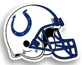 Indianapolis Colts 12 Inch Individual Car Magnet