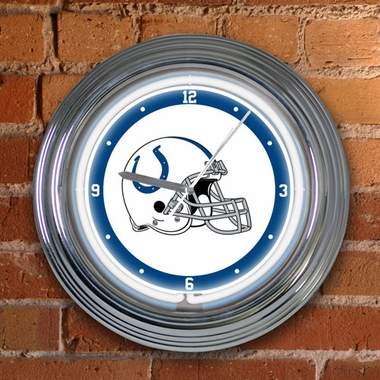 Indianapolis Colts 15 Inch Neon Clock