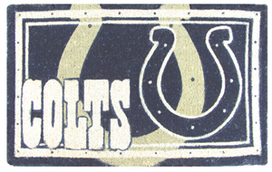 Indianapolis Colts 18x30 Bleached Welcome Mat
