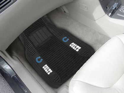 Indianapolis Colts 2 Piece Heavy Duty DELUXE Vinyl Car Mats