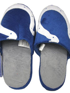 Indianapolis Colts 2011 Big Logo Hard Sole Slippers (Two Tone) - Medium