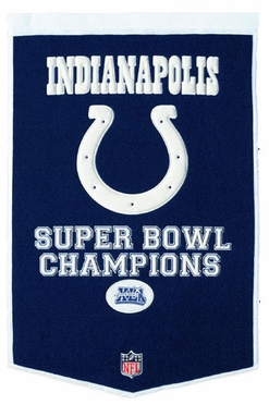 "Indianapolis Colts 24""x36"" S. B. Champs Wool Banner"