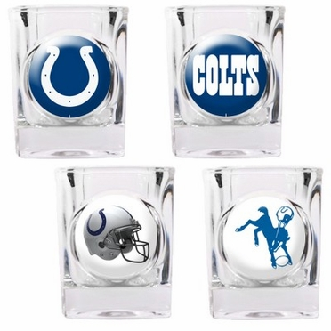 Indianapolis Colts 4 Piece Assorted Shot Glass Set